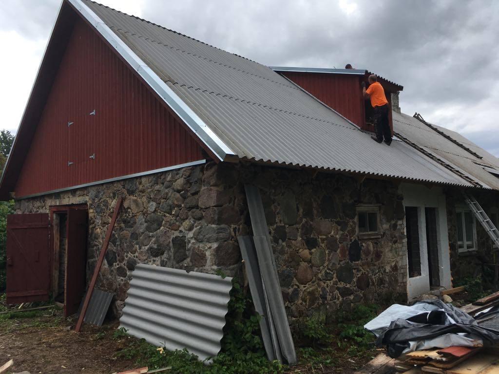 Katuse taastamine Lõuka külas